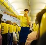 Ryanair lėktuvo salonas
