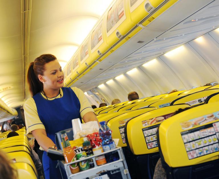 Ryanair sėdimos vietos lėktuve