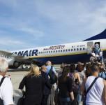 Ryanair sėdimos vietos. Įlaipinimas