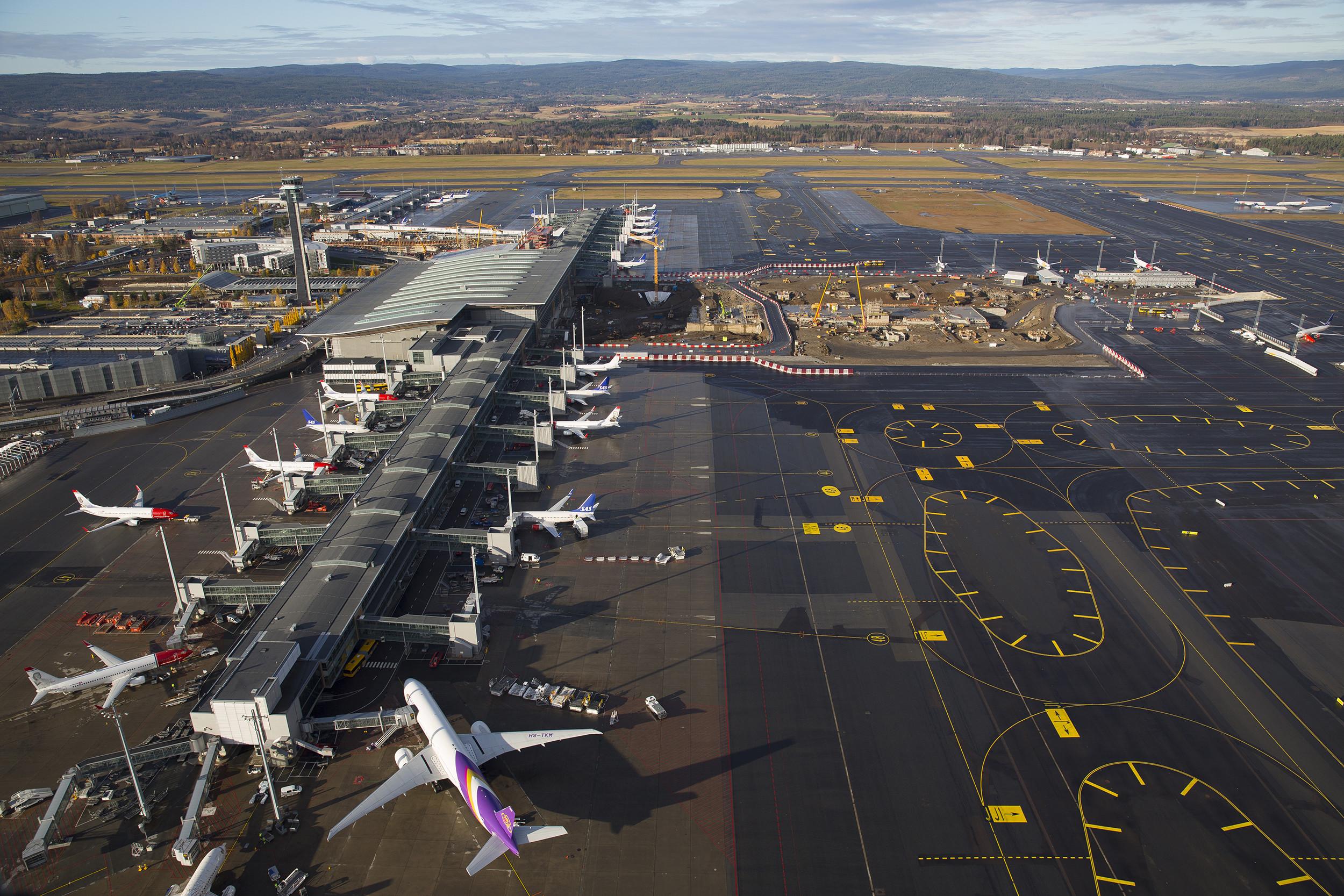 Ryanair skrydžiai į Oslą - į Gardermoen oro uostą