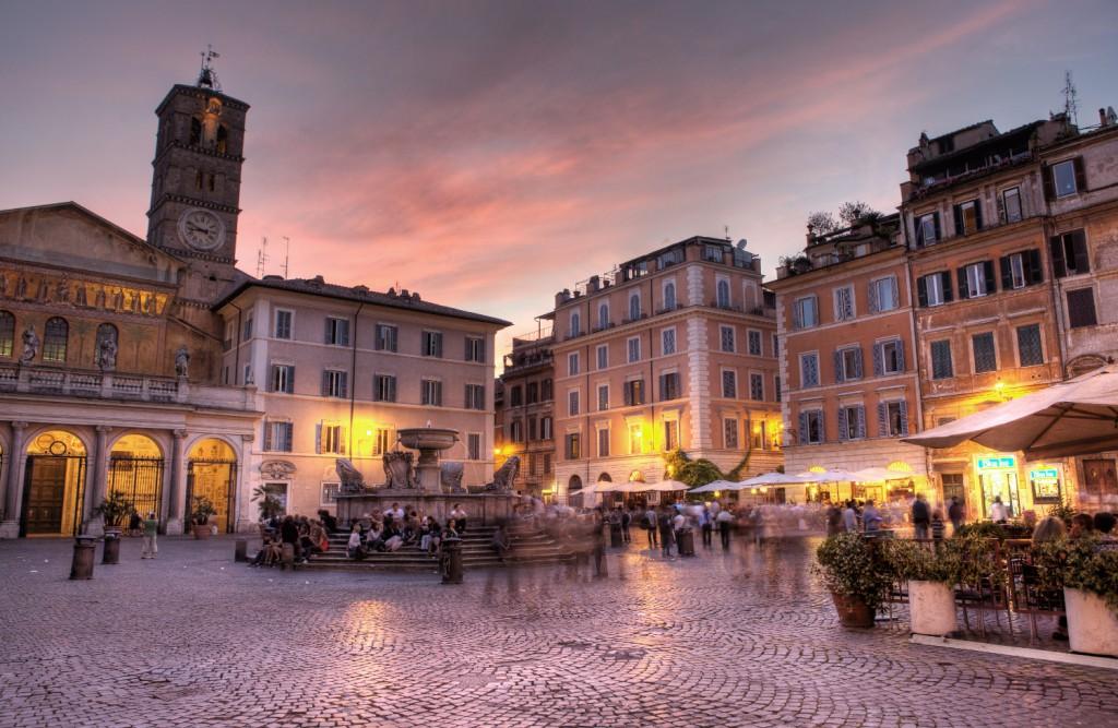 Ryanair skrydžiai į Romą. Trastvere