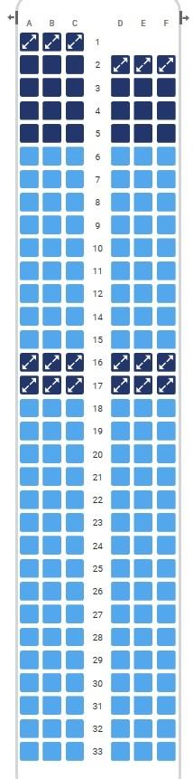 Sėdimos vietos Ryanair lėktuvuose